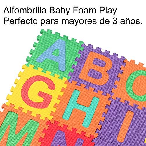 StillCool Alfombra Puzzle Niños de Letras para Niños Bebe Infantil 15cm * 15cm, 36 Piezas de Goma Espuma Suave Eva alfombras de Numeros 0 al 9 y 26 ...