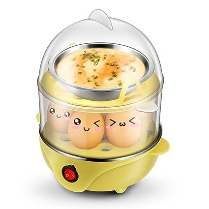 ANHPI Caldera De Huevos Eléctrica Doble Capa De Vapor De Alimentos con Capacidad DE 14 Huevos