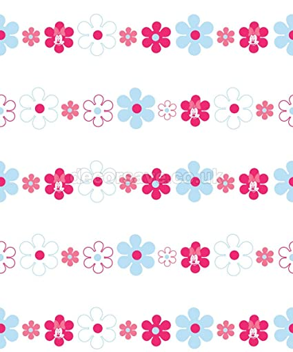 Amazoncom Disney Minnie Mouse Bows Daisies Pink Blue