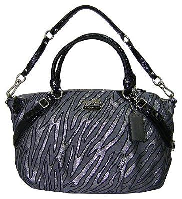 amazon com coach madison lurex zebra sophia satchel bag shoes rh amazon com