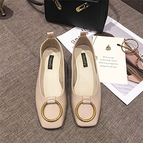 Womens Loafers Shoes Official Slip On Square Toe Low Heel Moccasins Modern Comfy Penny Apricot zpUZo4