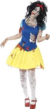 NET TOYS Disfraz de Blancanieves para Halloween Zombi Terror ...