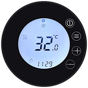 WiFi LCD Display Intelligent Thermostat, WiFi Programmable Thermostat, VISLONE Tuya WiFi Temperature Controller APP Remote Control Compatible with Alexa Google Home Voice Control(GB)