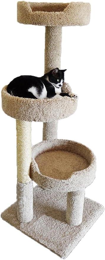 Amazon Com New Cat Condos Premier Kitty Pad Cat Tree Brown Pet Supplies