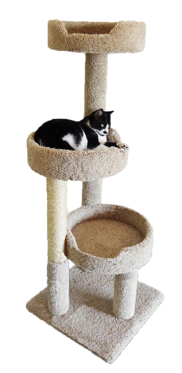 New Cat Condos Premier Kitty Pad Cat Tree, Brown by New Cat Condos