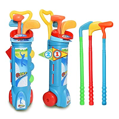 Rehomy Kids Golf Clubs Set, Golf Game Toy for Boys Girls Indoor Outdoor Beach Garden: Sports & Outdoors