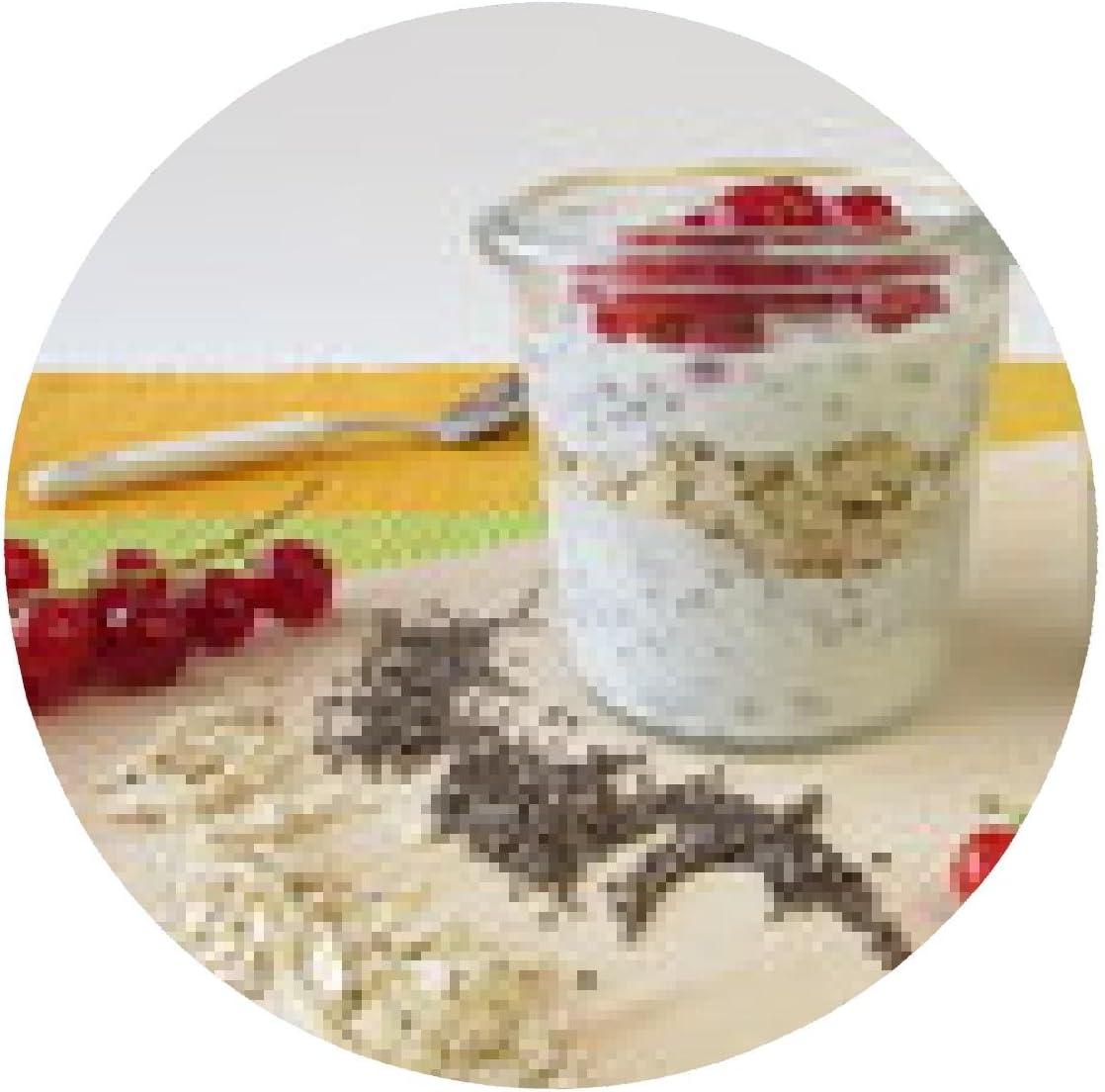 my-puzzle-design alfombrilla de ratón Desayuno con el yogur, la chía semillas, harina de avena y bayas: Amazon.es: Electrónica