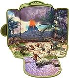 MOJO Dinosaur Backpack Playset with 8 Dinosaur Figurines: T-Rex, Velociraptor x 2, Brachiosaurus, Stegosaurus, Triceratops, Parasaurolophus and Tylosaurus