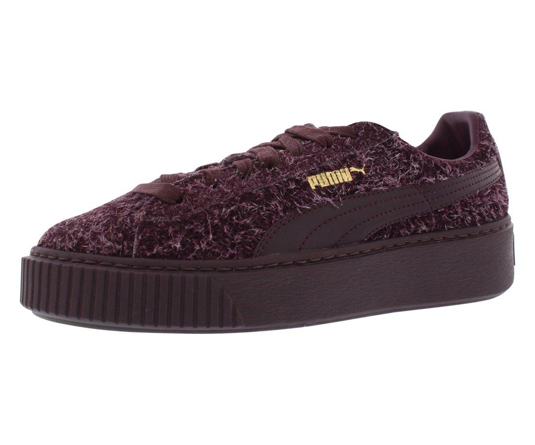 Puma Suede Platform Elemental Women US 7 Burgundy Sneakers