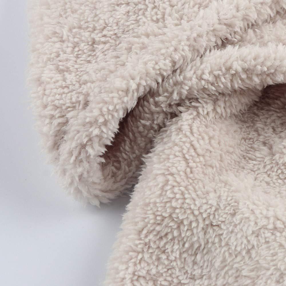 PAOLIAN Cappotto,Uomo Moda Autunno Inverno Casual Sciolto Double-Sided Peluche Felpa con Cappuccio