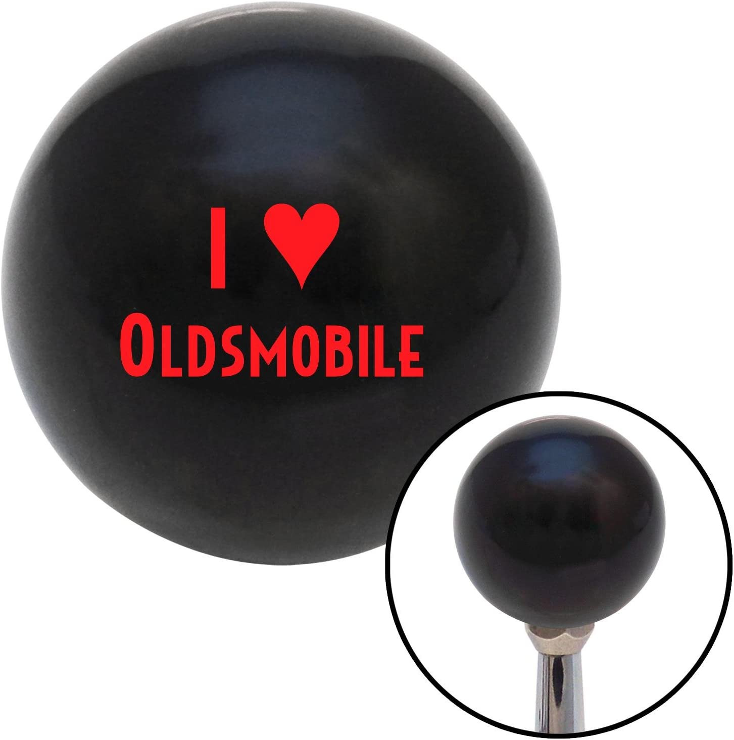 Red I 3 Oldsmobile American Shifter 105803 Black Shift Knob with M16 x 1.5 Insert