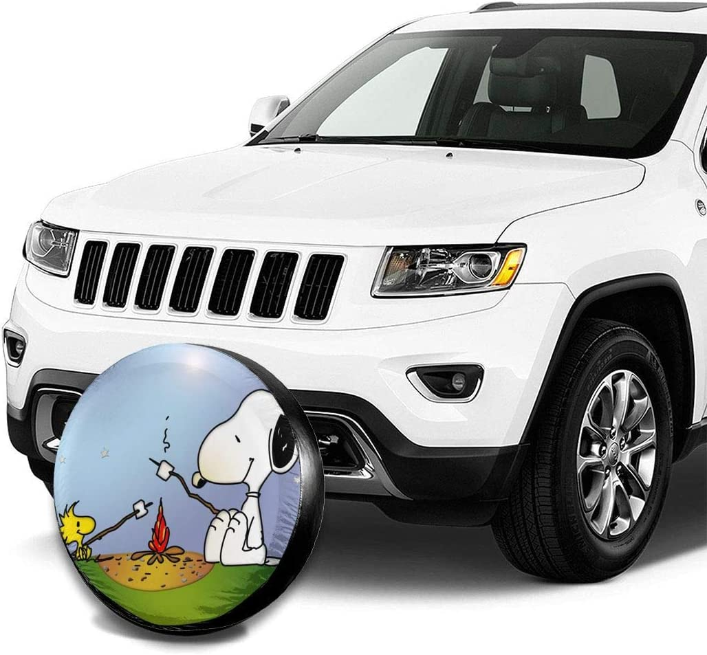 Spare Tire Cover Snoopy Camping Universal Waterproof Dust-Proof Wheel Covers