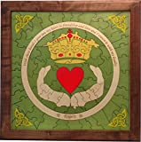 Framed Claddagh Puzzle Wedding Guest Book