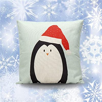 FairyTeller Christmas Cartoon Decoration Festival Pillow Case Cushion Cover Home Decoration U6723