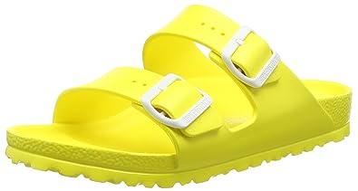 BIRKENSTOCK Unisex-Erwachsene Arizona Eva Pantoletten, Gelb (Scuba Yellow), 41 EU
