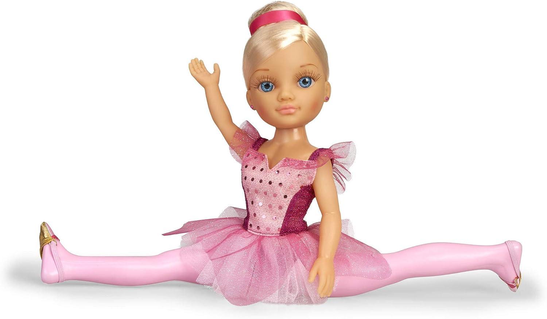Nancy-Un día, Muñeca con tutú de Purpurina y Puntas de Ballet niñas a Partir de 3 años (Famosa 700015543)