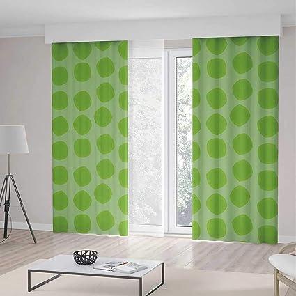Amazon.com: YOLIYANA Bedroom Blackout Curtains,Lime Green ...