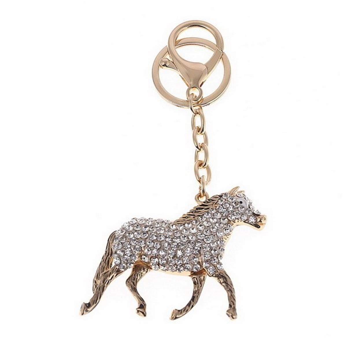 LeahWard Women's Elephant Diamante Rhinestone Bag Charm Handbag Keyring Crystal Keychain 302 (Chicken)