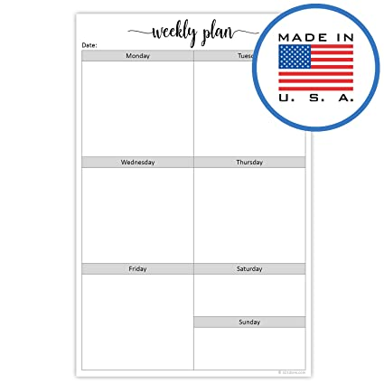 image about Blank Weekly Planner identify 321Carried out Blank 7 days Developing Pad - 50 Sheets (5.5\