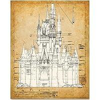 Cinderella's Castle - 11x14 Unframed Patent Print - Great Gift for Disney Fan