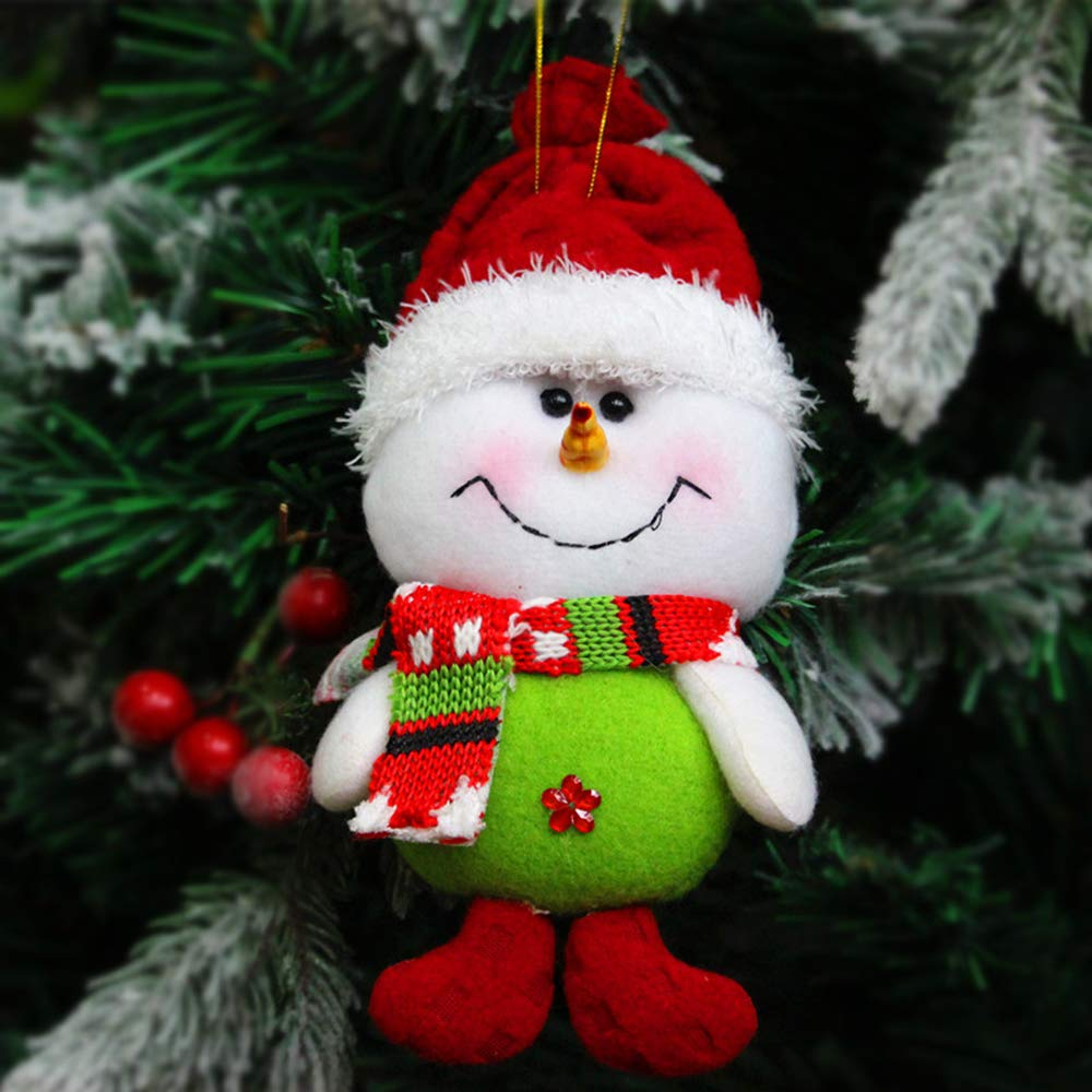 RLucky | Christmas Plush Dolls | Home Ornament Decoration Toys | Santa Clause Snowman Reindeer Doll | Hanging Dolls | Set of 3 Soft Plush Stuffed Toy