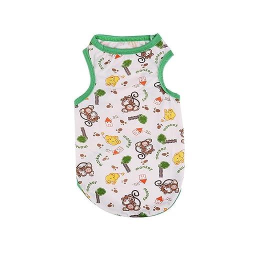 b01b1f8d3 Amazon.com: Kim88 Pet Vest for Small Medium Large Dogs Summer Printing Tee  Shirt Costumes Clothes: Clothing