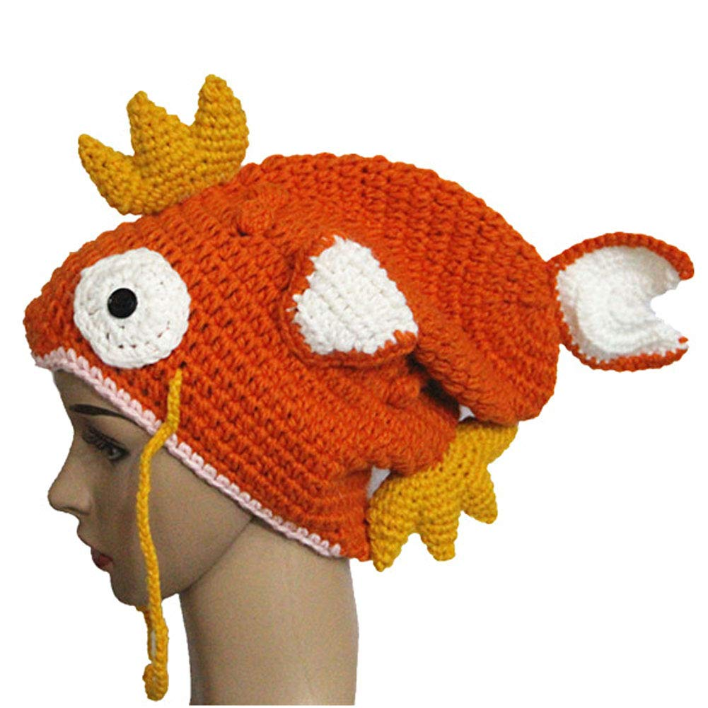 BIBITIME. Baby Handmade Goldfish Knitted Hat Beanie Cap Costume Photography Prop Reference) B4042 Knit Fish Hat