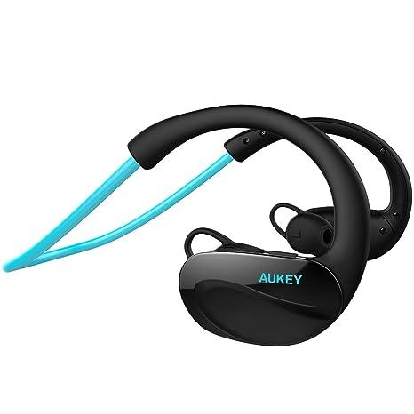 fa681d41e87c10 AUKEY Auricolare Stereo In Ear Bluetooth 4.1 Cuffie Wireless per lo Sport con  Microfono a Vivavoce