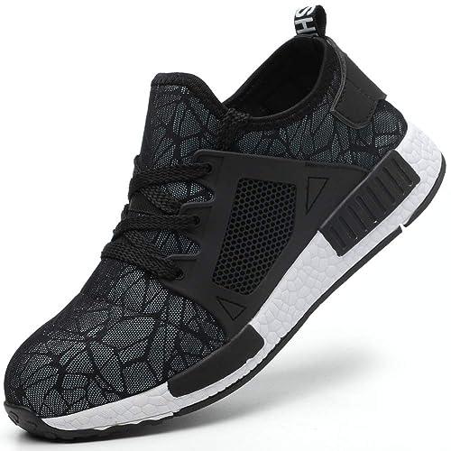 Superwl Zapatos de Seguridad para Hombre Ligeros Comodos Calzado Seguridad Mujer Punta de Acero: Amazon.es: Zapatos y complementos