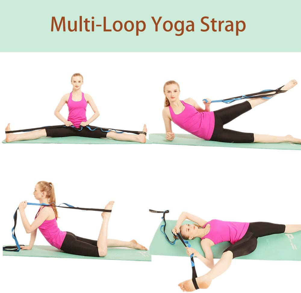 Yoga Physical Therapy And Gymnastics With Instruction Guide A Azurelife Multi Loop Stretch Out Strap Stretching