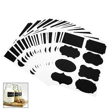 160 Stücke Tafel Aufkleber Wasserdichte Etiketten für Gewürzgläser Marmelade