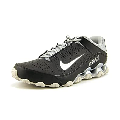 NIKE Mens Reax 8 TR, Black/Metallic Silver - Pure Platinum Size US 7.5