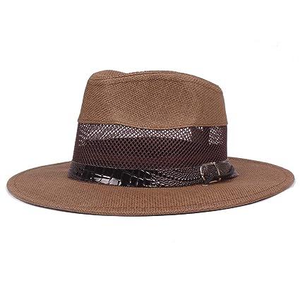 d86b5b41 HUBINGRONG Sombreros de jazz occidentales para hombres Sombreros de ...