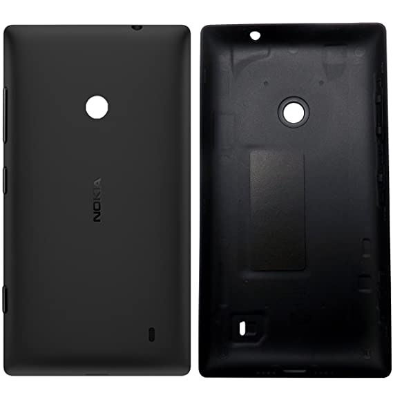 promo code de2a0 95fa3 Genuine Nokia Lumia 520 replacement rear housing Battery Back cover case  side keys BLACK