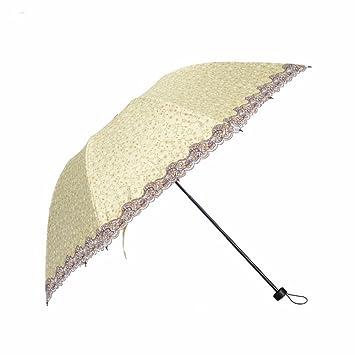 Sombrilla Paraguas - Uv Sunscreen Sombrilla Setenta Por Ciento De Pegamento Paraguas Plegable Negro Hembra Hembra