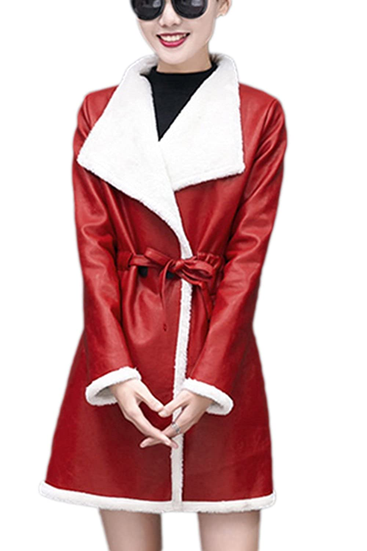 Élégant Patchwork laine vêtements manteau des femmes avec ceinture