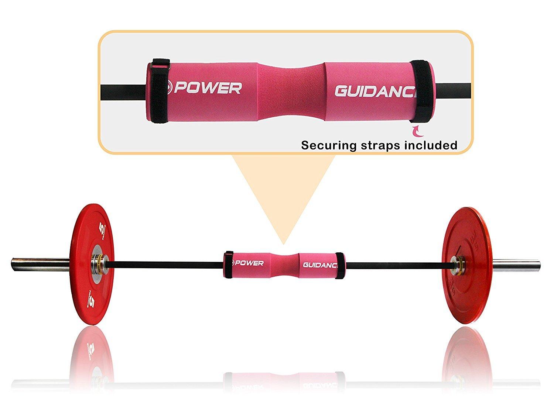 Levantamiento de Pesas y m/ás POWER GUIDANCE Barbell Squat Pad Protectora del Cuello y del Hombro Ideal para Squats Hip Thrusts Lunges