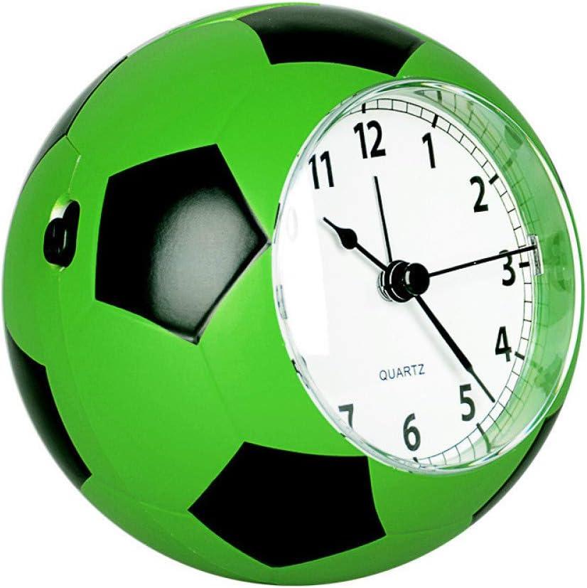 GYZBYDespertador Niño Despertador Estudiante Masculino Silencioso Reloj De Cabecera Dibujos Animados Lindo Personalidad Despertador Simple Fútbol