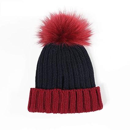 Cappello di Peluche Autunno e Inverno da Donna in Acrilico colorazione  Capelli Palla Moda Invernale 55 f032914db5db