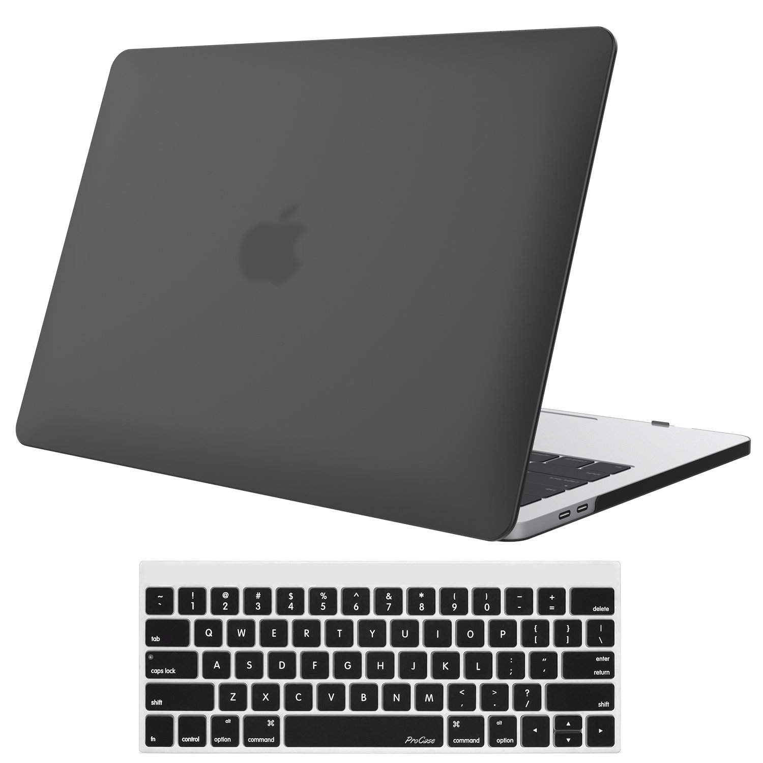 MacBook Air 13 Inch Case, ProCase Rubber Coated Hard Shell Case for MacBook Air 13 inch ( Model A1369 & A1466) with Keyboard Skin Cover –Black