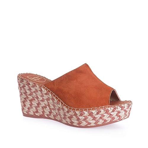 Lucy-A - Alpargata para Mujer de TONI PONS Hecha en Ante.: Amazon.es: Zapatos y complementos