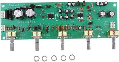 P Prettyia A30 Estéreo Preamplificador de Tono de Audio 2.0 Canal Placa Amplificadora DIY Repuestos