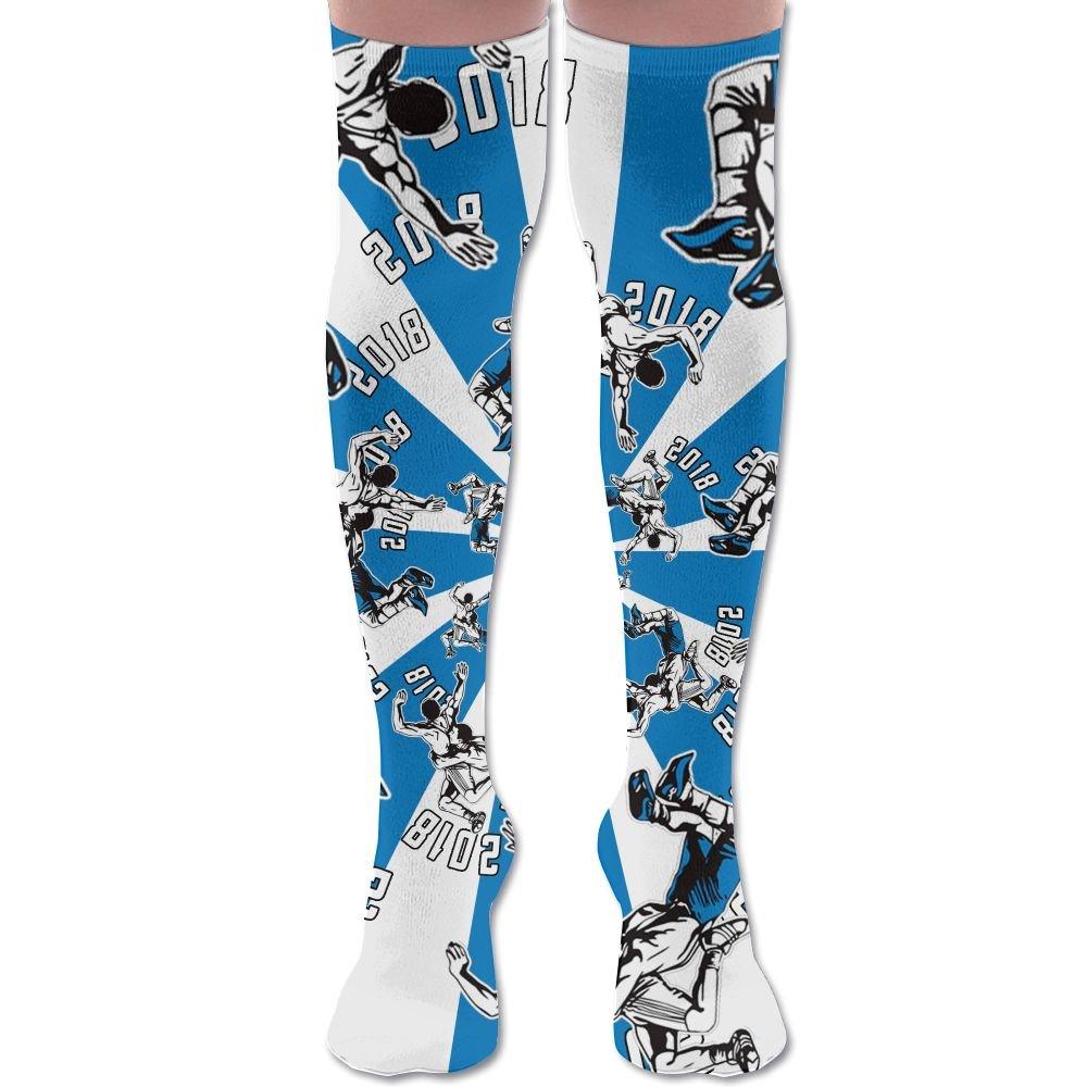 XYMNZGS Funny Wrestling Sports Womens Socks Knee High Over The Knee Socks For Soccer Mens Socks
