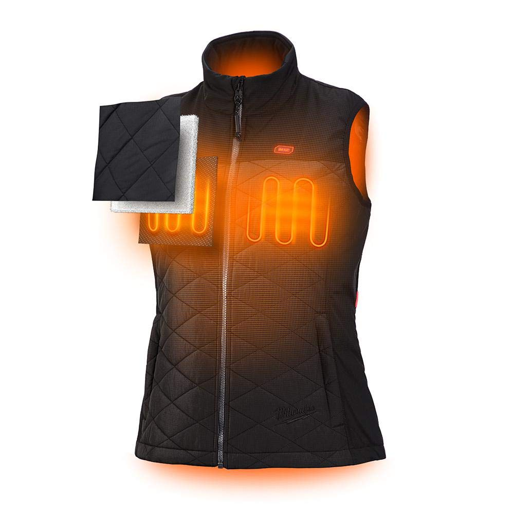 Milwaukee M12 Heated AXIS Vest Lithium-Ion Front and Back Heat Zones - Black (Large, Womens Vest Only) by Milwaukee (Image #2)