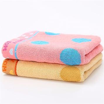 Toalla de cara suave de algodón puro cute polka dot lavar toallas/parejas masculinas y femeninas toalla familiar,2 Piezas de carga,B: Amazon.es: Hogar