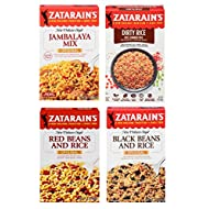 Assorted Zatarain's Rice Dinner Variety Pack, 4 Count
