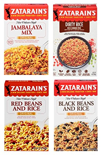 Assorted Zatarain's Rice Dinner Variety Pack, 4 Count (Rice Mix Jambalaya)
