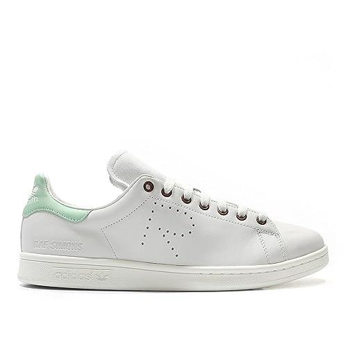 f07760cbcf83 ADIDAS X RAF SIMONS Stan Smith Sneakers Off White  Pistachio Green 13 D(M)  US  Amazon.in  Shoes   Handbags