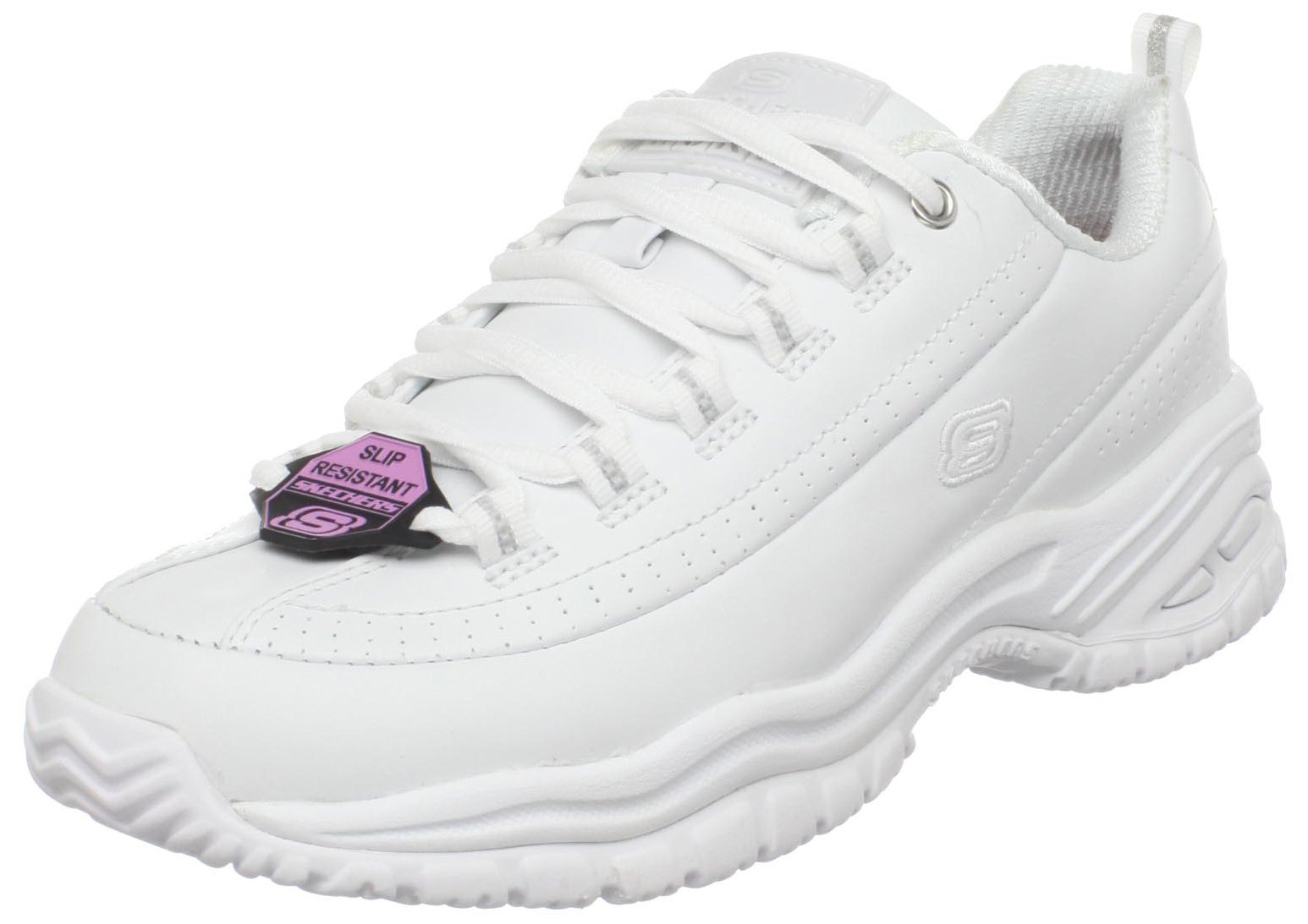 Skechers for Work Women's Soft Stride-Softie Lace-Up, White,