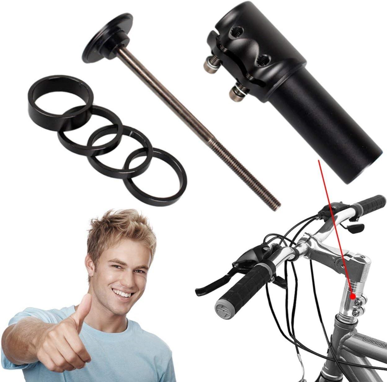 MTB Bicycle Bike Handlebar Fork Stem Rise Up Extender Extension Head Up Adaptor